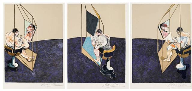 Francis Bacon Three studies of a male back Lithograph Triptych 1987