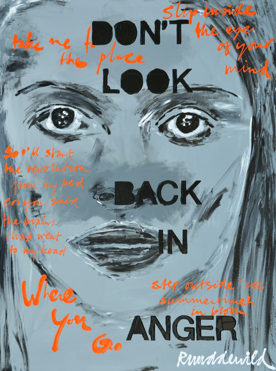 Ruud de Wild schilderij Don't look back in anger