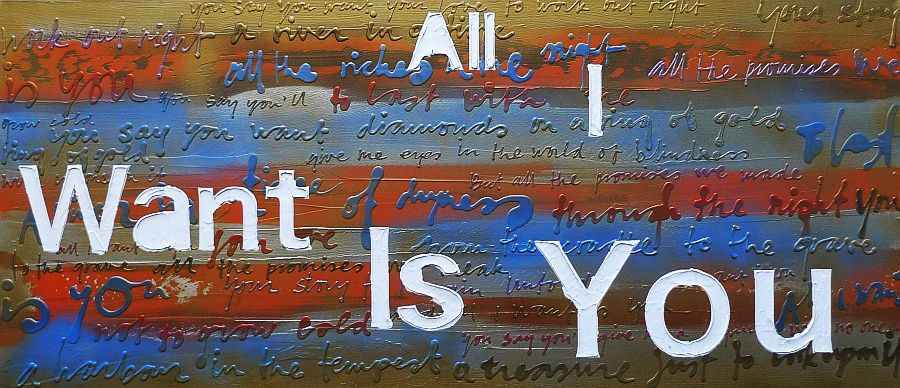Ruud de Wild schilderij All i want is you 180 x 80 cm