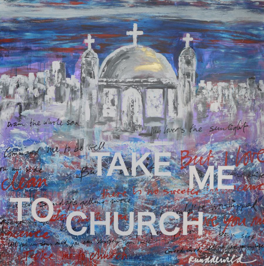Ruud de Wild Take Me To Church schilderij