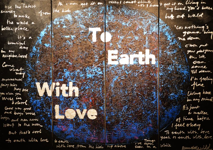 Ruud de Wild schilderij To Earth With Love