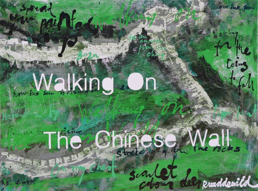 Ruud de Wild schilderij Walking on the chinese wall